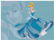 Disney Cinderella Counted Cross Stitch Pattern