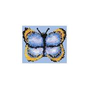M.C.G. Textiles Pillow Latch Hook Kit, 33cm by 25cm , Butterfly