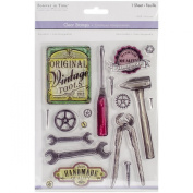 Multicraft Imports CS220-Z Clear Stamps 5.5X7 Sheet-Vintage Tools