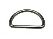 Generic Metal Silvery D Ring Buckle D-Rings 3.8cm Inside Diameter for Strap Pack of 10