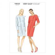 Vogue Patterns V9022 Misses' Dress Sewing Template, Size ZZ