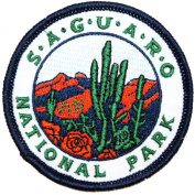 Saguaro National Park Arizona Souvenir Travel Embroidered Iron On Applique Patch