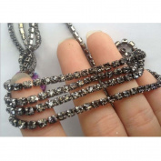 3MM Rhinestone Beaded Trim with Alloy Chain Fashion DIY Craft Supply Jewellery Accessories by 1 yard