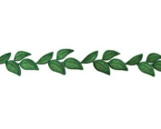 Simple Leaf Embroidered Trim By Shine Trim - Dark Green