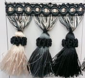 "Beaded Tassel Fringe Trim 8.9cm Style# Bf 1478 *NEW 5120cm Elegance Collection"", 12 Colours available ! Sold By the Yard"