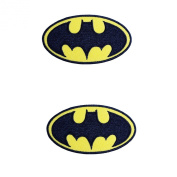 Batman Logo Embroidered Iron on Patch 2pcs.