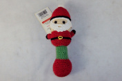 Amikins - KidStyle Hand Crocheted Baby Rattle - Santa Red.