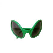 Green Plastic Alien Sunglasses Party Favours
