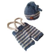 Jastore® Baby Boy Photography Prop Costume Cute Stripe Newborn Cap Pants