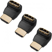 Twisted Veins ACHLA3 Three (3) Pack of HDMI 270 Degree/Right Angle Connectors/Adapters