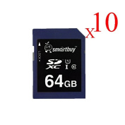 Smart Buy SD XC Class 10 Memory Card SDXC C10 Ultra U1 UHS-I HD Fast Speed for Camera (64GB