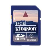 KINGSTON sd4/16gb class 4 sdhc hi-speed secure digital card 16gb