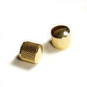 2 Metal Dome knurling Guitar Knobs For Tele or JB style ,Gold plated