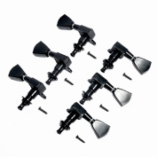 abcGOODefg® Guitar Tuning Pegs Head Tuners Machine for Gibson Replacement 3L3R (6PCS) Black