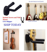TopStage Guitar Hanger Stand Holder Wall Mount Display W Wall Anchor Grak1