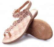 Amata Bohemia Sandals Women's Shoes Rhinestone Flower.