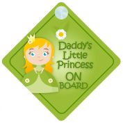 DLP008 Daddy's Little Princess On Board Car Sign New Baby / Child Gift / Present / Baby Shower Surprise