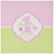 Lillian Rose 1st Birthday Keepsake Memory Book, Pink, 18cm