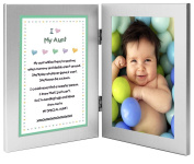 Gift for Aunt - Sweet Poem from Niece or Nephew in Double Frame - Add 10cm x 15cm Photo
