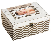 Shabby Chic Wooden Memory Box with Picture Frame