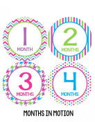 Months in Motion 319 Monthly Baby Stickers Baby Girl Milestone Sticker