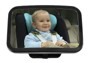 Greenco Rear Facing Back Seat Baby View Mirror - Large and Crystal Clear Sharp View Mirror