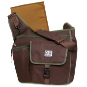 Nappy Dude Sport Bag by Chris Pegula - Brown Sling Messenger Nappy Bag by DD Sport