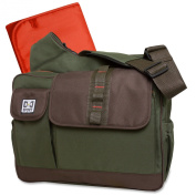 "Nappy Dude Sport ""His Dudeness"" Nappy Bag by Chris Pegula - Olive Messenger with Cross Body Strap"