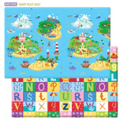 Baby Care Play Mat Foam Floor Gym, Magical Islands, Large