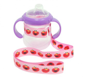 Petite Creations No Throw Sesame Street Bottle Holder Elmo, Pink