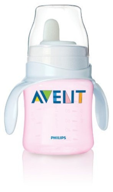 Philips Avent BPA Free Classic Bottle to First Cup Trainer, Pink Gift, Baby, NewBorn, Child