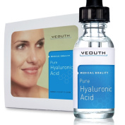Hyaluronic Acid Serum for Face - 100% Pure Medical Quality Clinical Strength Formula! Satisfaction Guaranteed. Holds 1,000 Times Its Own Weight in Water - Plumps and Hydrates - All Natural - No Preservatives