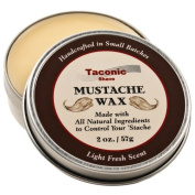 Taconic Shave Premium Moustache Wax - All Natural - Artisan Made in the USA - 60ml Size