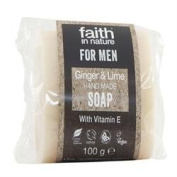 Faith In Nature Hand Made For Men Ginger & Lime Soap 100g
