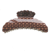 Hair Accessory - Large Dot Hair Jaw Claw Clip