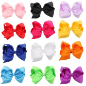 Roewell®Baby's and Girl's Ribbon Grosgrain Hair Bow Clips Barrettes