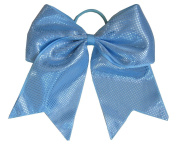 "New ""Sparkle Dots Light Blue"" Cheer Bow Pony Tail 7.6cm Ribbon Girls Hair Bows Cheerleading Dance Practise Football Games Competition Birthday"