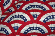 Patriotic Flag Fabric Hair Scrunchies Set of 2 July 4th Memorial Day Holiday Ponytail Holders made by Scrunchies by Sherry