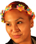 KryptiK Women's Sherbert Flower Crown Headband