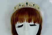 Green Rhinestone Crystal Diamond Wedding Accessory Bride Bridal Hair Head Band Wear Crown Jewellery Headdress Headband Tiara Coronal