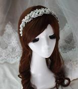 Crystal Diamond Hair Head Band Wear Rhinestone Pearl Jewellery Headdress Headband Tiara Coronal