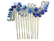 Faship Blue Crystal Hair Comb Bridesmaid Wedding Party Prom