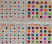 Multi-colour Velvet Dot Bindi Tattoo Assorted Colours 120 Stickers Adhesive Body Jewellery By Golden India P3