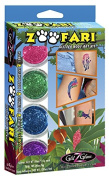Zoofari Glitter Tattoo Kit - Safari, Zoo & Jungle Animals Body Art
