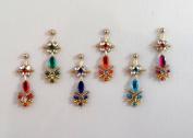 Stick On Ornament Bridal Bindi Forehead Stickers Body Art Tattoo Jewellery Bellydance - #19