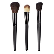 ON & OFF East Meets West Collection Domed Powder, Colour Lay Down and Slanted Cheek Brush Set