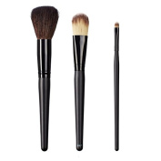 ON & OFF East Meets West Collection Domed Powder, Colour Lay Down and Medium Detailer Brush Set