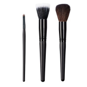 ON & OFF East Meets West Collection Small Detailer, Stipple and Domed Powder Brush Set