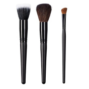ON & OFF East Meets West Collection Stipple, Domed Powder and Large Angle Shader Brush Set