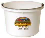 Little Giant P8WHITE Dura Flex Plastic Bucket for Livestock, 7.6l, White